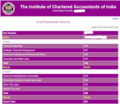CA Final Result Nov 2020